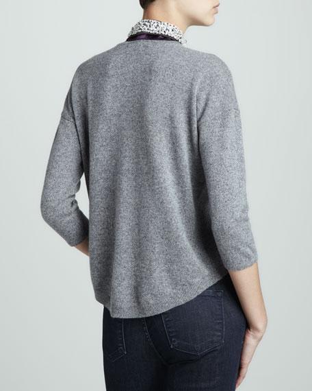 Cashmere Beaded-Collar Sweater
