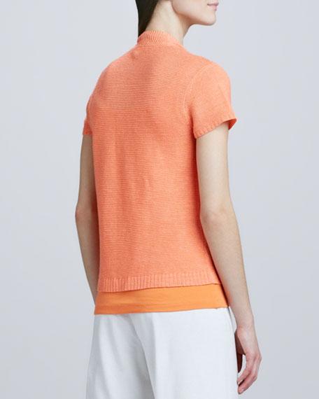 Open Asymmetric Linen Cardigan