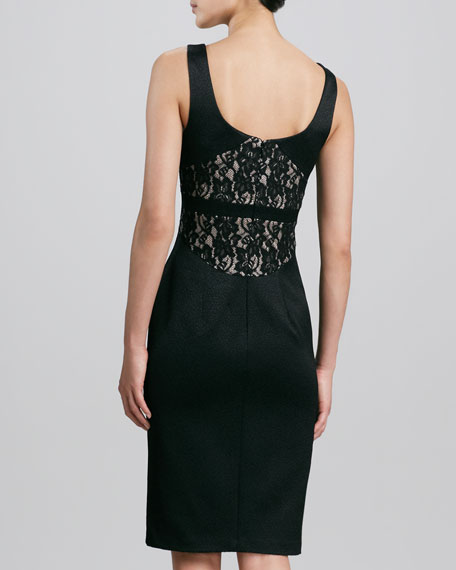 Sleeveless Lace-Back Cocktail Dress