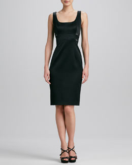 David Meister Sleeveless Lace-Back Cocktail Dress