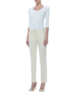Michael Kors Samantha Slim Cotton Pants