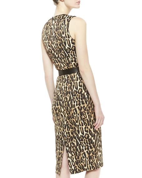 Leopard-Print Jersey Dress