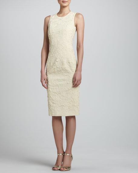 Georgette Sheath Dress, Ivory