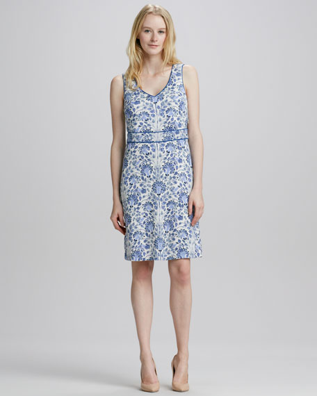 Gene Floral-Print Dress