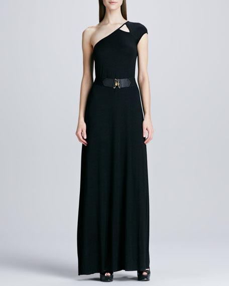 Emmanuella One-Shoulder Maxi Dress, Women's
