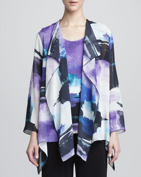 Dreamscape Printed Georgette Jacket, Women's