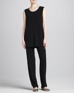 Caroline Rose Stretch-Knit Slim Pants, Women's