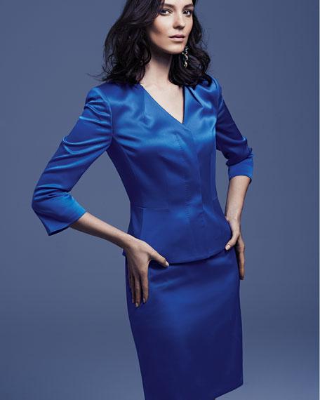 Three-Quarter-Sleeve Modern Skirt Suit