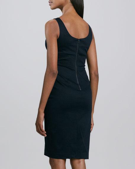 Sleeveless Pique Sheath Dress