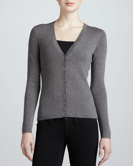 Classic Cashmere Cardigan, Banker