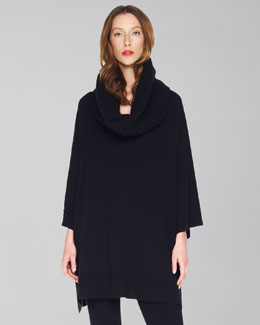 Michael Kors Detachable-Collar Poncho