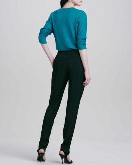 Elastic-Waist Pants