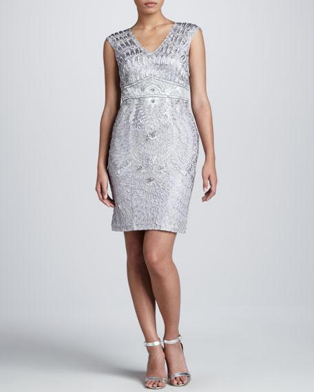 Cap-Sleeve Cocktail Dress