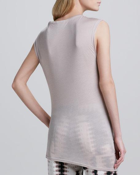 Sleeveless Top with Side Drape