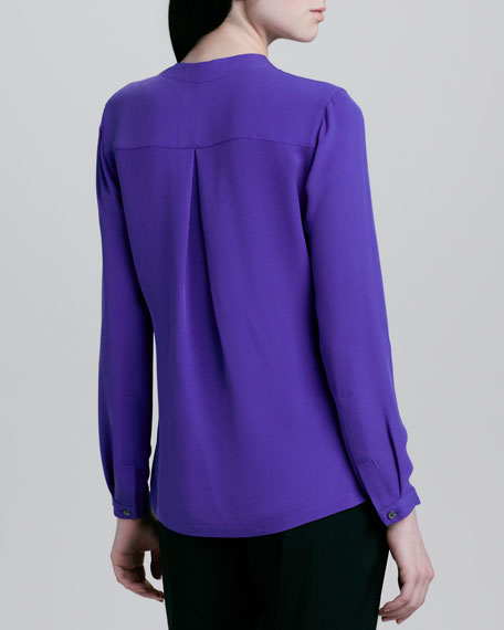 Button-Front Top