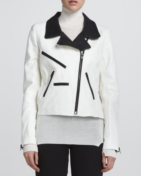 Theo Two-Tone Leather Jacket