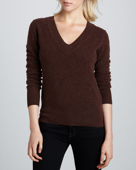 Cashmere V-Neck Sweater, Women's