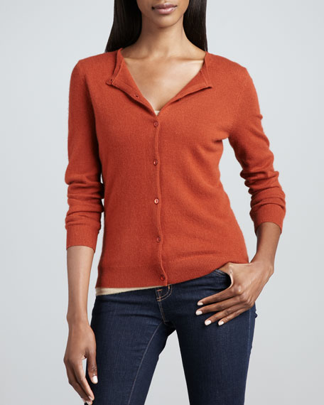 Cashmere Cropped Cardigan, Women's