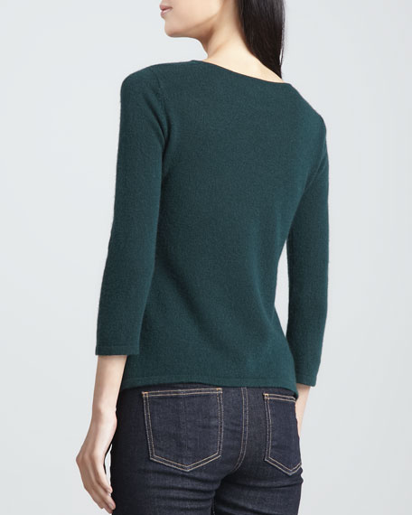 Cashmere Cowl-Neck Sweater