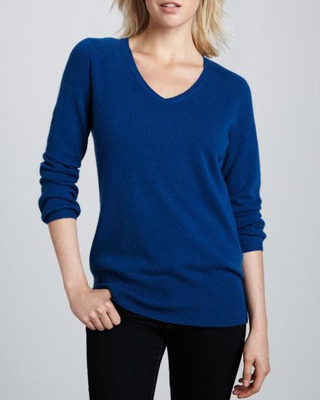 Oversized Cashmere V-Neck Sweater