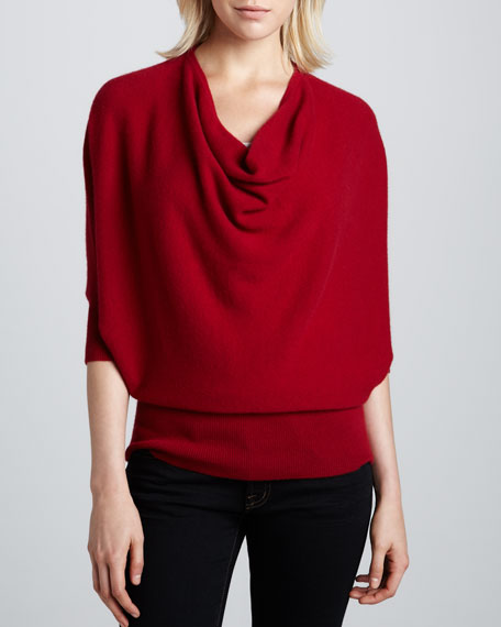 Oversized Cowl-Neck Cashmere Sweater, Women's