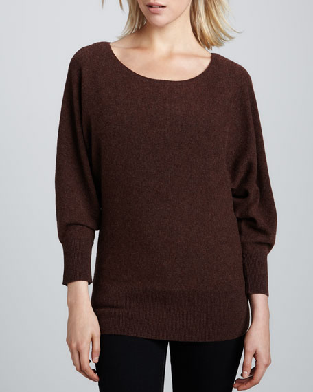 Oversized Dolman Cashmere Top, Women's