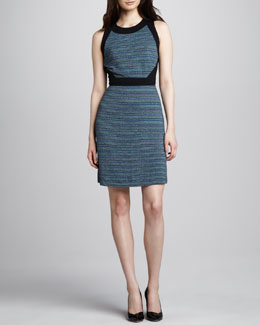 Phoebe Couture Tweed-Print Jersey Dress
