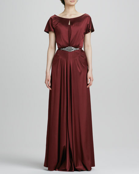 Beaded Belt Gown