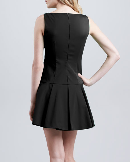 Dropped-Waist Dress, Black
