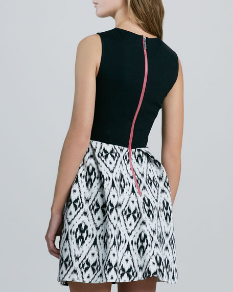 Belinda Ikat-Skirt Dress