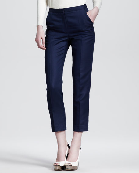 Edith Cropped Sateen Trousers