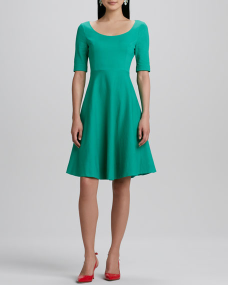 jada half-sleeve full-skirt dress