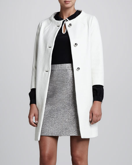 susannah three-quarter-sleeve coat