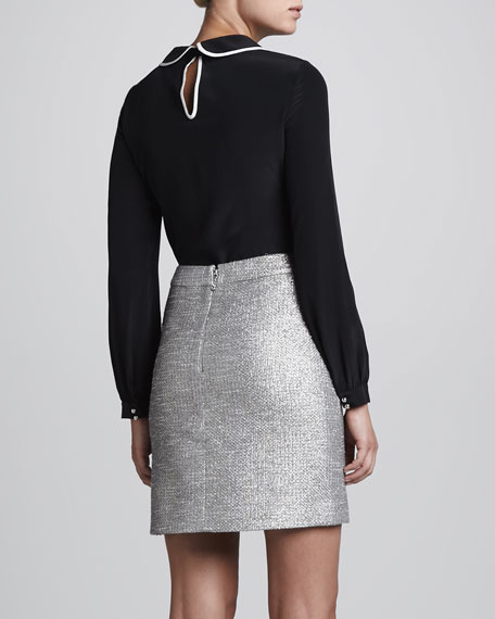 jazz metallic a-line skirt