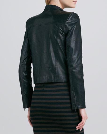 Vivien Leather Motorcycle Jacket