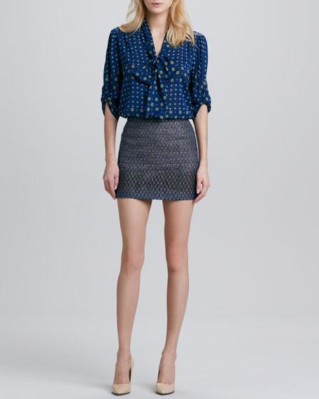 Flora Metallic Miniskirt