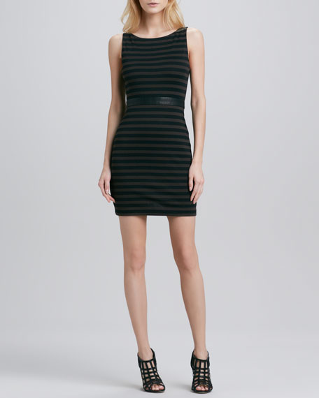 Bendey Belted-Waist Dress