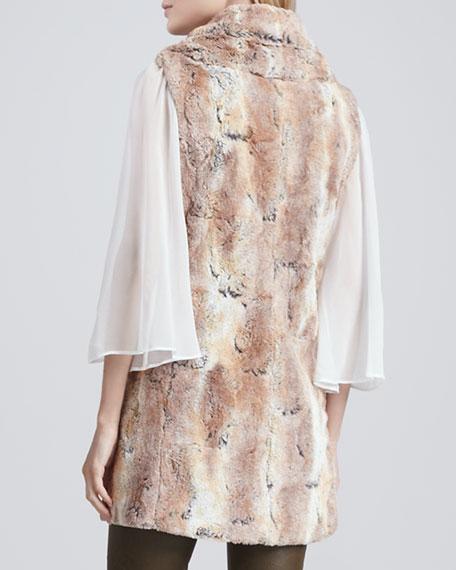 Annistyn Long Faux-Fur Vest