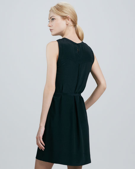 Yasmin Belted Silk Dress