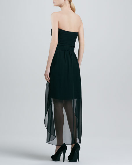 Georgia Strapless High-Low Dress