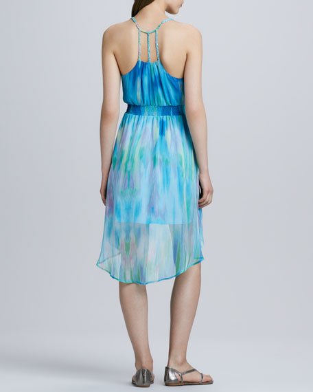 Lily Watercolor Chiffon Dress