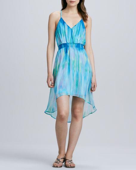 Lily Watercolor Chiffon Dress