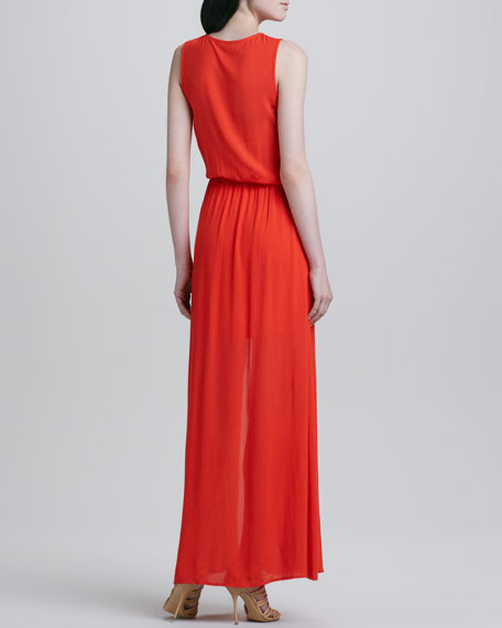 Ella Moss Stella Side-Slit Maxi Dress