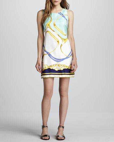 Positano Chain-Print Dress