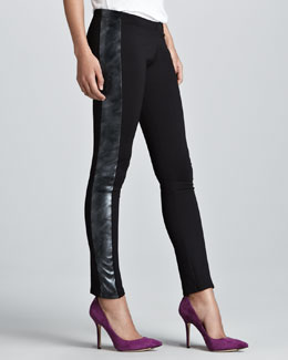 Generation Love Metallic-Stripe Tuxedo Pants