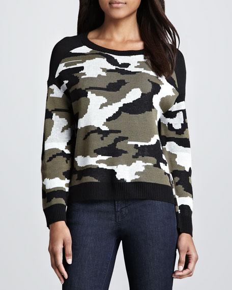 Ruby Camo-Print Sweater