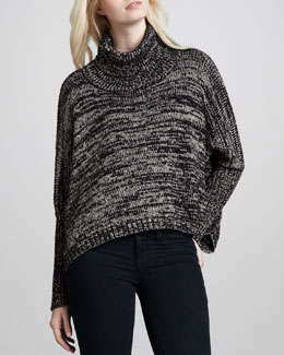 Generation Love Brunch Metallic Poncho Sweater