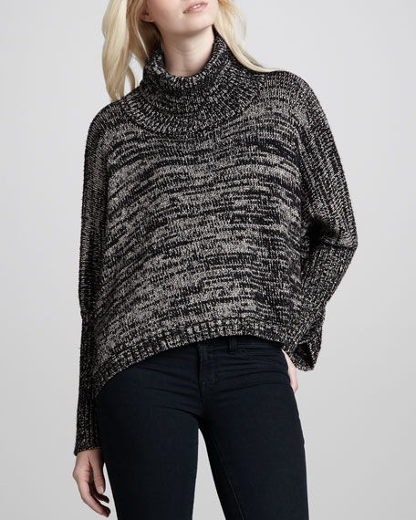 Brunch Metallic Poncho Sweater