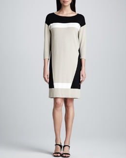 Magaschoni Colorblock Tunic Dress
