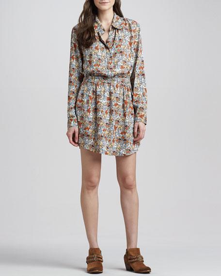 Lana Tiger-Print Shirtdress